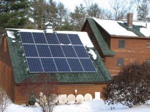 Roof-mounted PV system